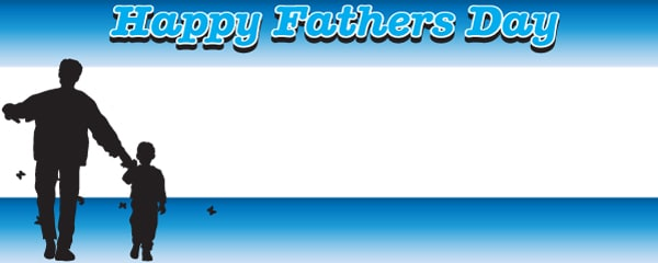 Happy Fathers Day Dad Design Small Personalised Banner - 4ft x 2ft