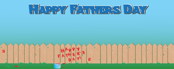 Happy Fathers Day Design Small Personalised Banner - 4ft x 2ft