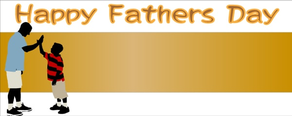 Happy Fathers Day High-Five Design Small Personalised Banner - 4ft x 2ft