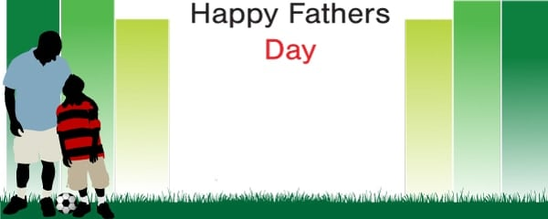 Happy Fathers Day Football Dad Design Small Personalised Banner - 4ft x 2ft