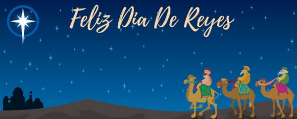 Feliz Dia De Reyes Three Kings Design Medium Personalised Banner – 6ft x 2.25ft