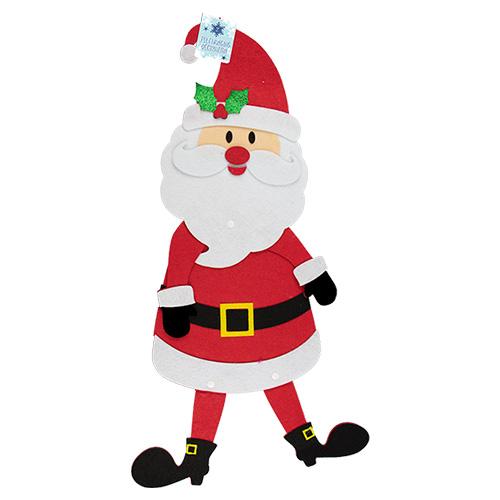 Felt Santa Hanging Christmas Decoration 54cm Product Image