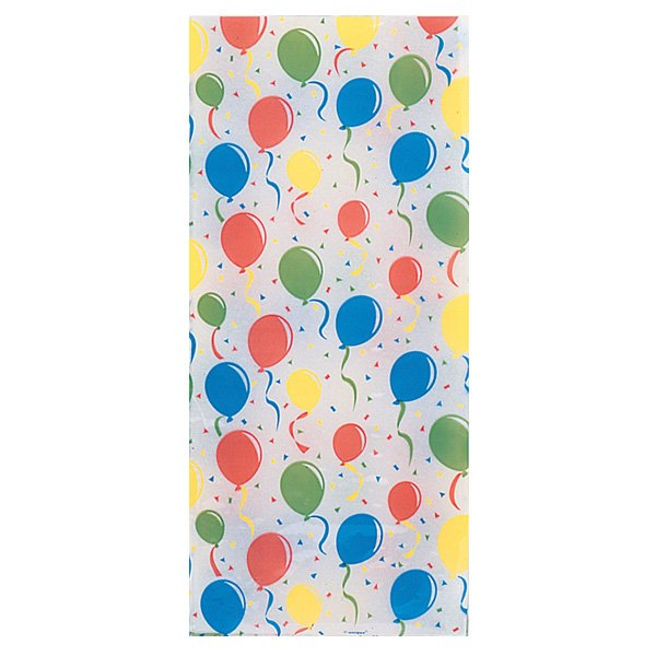 Festive Balloons Cello Bag - Pack of 20 Product Image