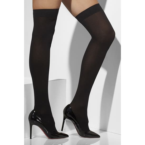 Fever Hosiery Black Opaque Stockings Hold-Ups