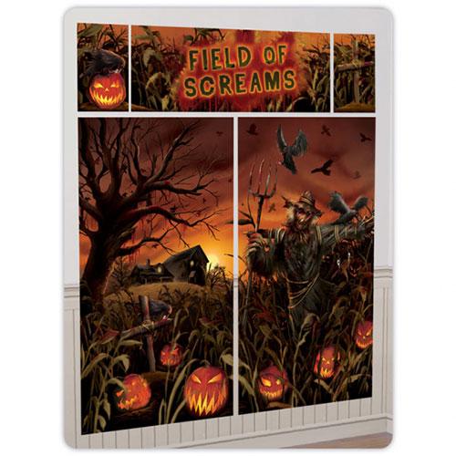 Field of Screams Halloween Backdrop Scene Setter Add-On Wall Decorating Kit