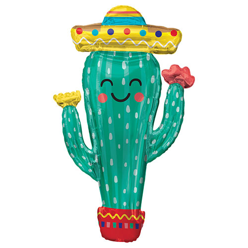 Fiesta Cactus Helium Foil Giant Balloon 96cm / 38 in Product Image