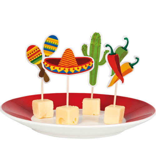 Fiesta Paper Cocktail Picks 9cm - Pack of 12 Product Image