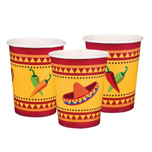Fiesta Paper Cups 250ml - Pack of 6