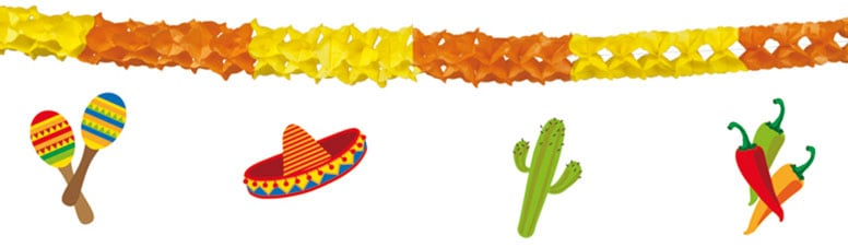 Fiesta Paper Garland With Hanging Decorations - 4m Product Image