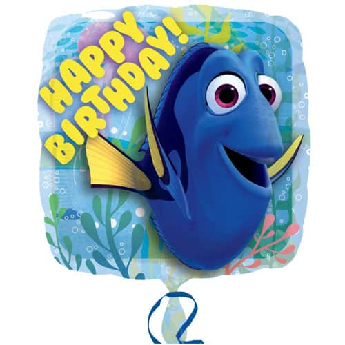 Finding Dory Happy Birthday Square Foil Helium Balloon 43cm / 17Inch Product Image