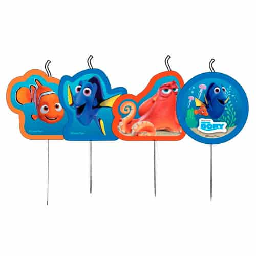 Finding Dory Party Candles - Pack of 4