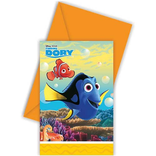 Finding Dory Party Invitations With Envelopes - Pack of 6