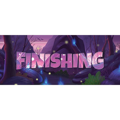 Finishing Forest Background PVC Party Sign Decoration 60cm x 25cm Product Image