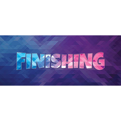 Finishing Home Screen Background PVC Party Sign Decoration 60cm x 25cm Product Image