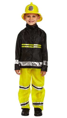 Fireman Children Fancy Dress Costume 4-6 Years - Small