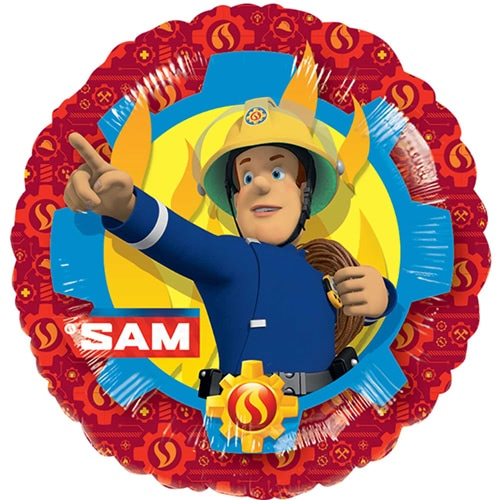 Fireman Sam Rescue Round Foil Helium Balloon 43cm / 17 in Product Image