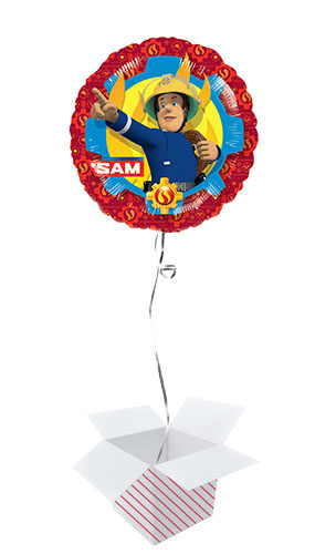Fireman Sam Rescue Round Foil Helium Balloon - Inflated Balloon in a Box Product Image