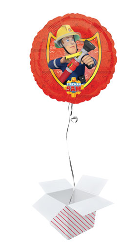 Fireman Sam Round Foil Helium Balloon - Inflated Balloon in a Box Product Image