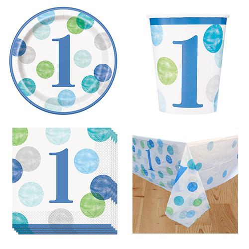 First Birthday Boy 8 Person Value Party Pack