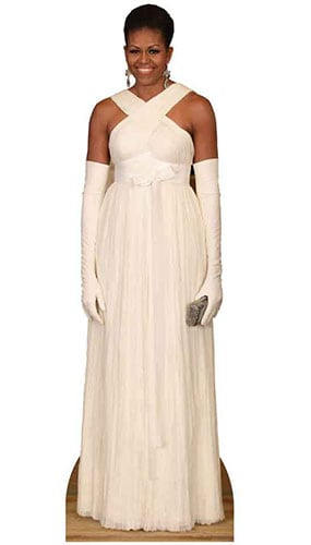 First Lady Michelle Obama In Formal Dress Lifesize Cardboard Cutout - 189 cm Product Image