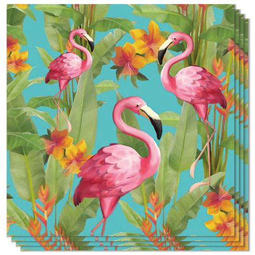Flamingo Aqua Design Luncheon Napkins 3 Ply - 33cm - Pack of 20 Product Image
