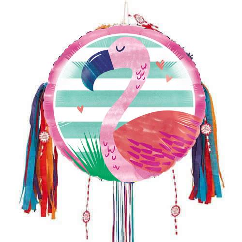 Flamingo Pull String Pinata