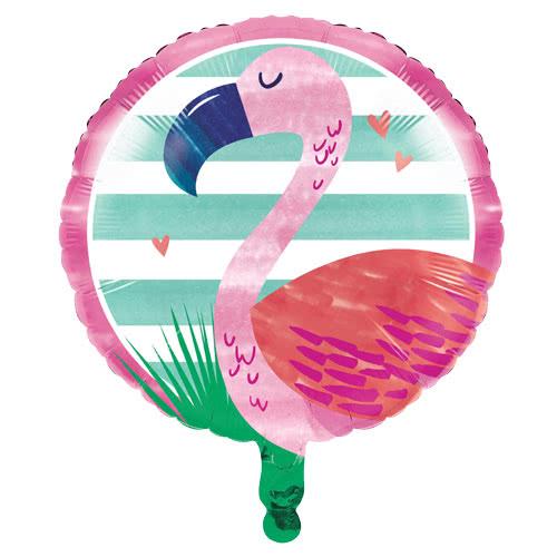 Flamingo Round Foil Helium Balloon 46cm / 18Inch Product Image