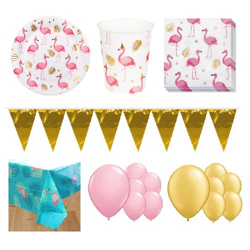 Flamingo Gold 12 Person Deluxe Party Pack