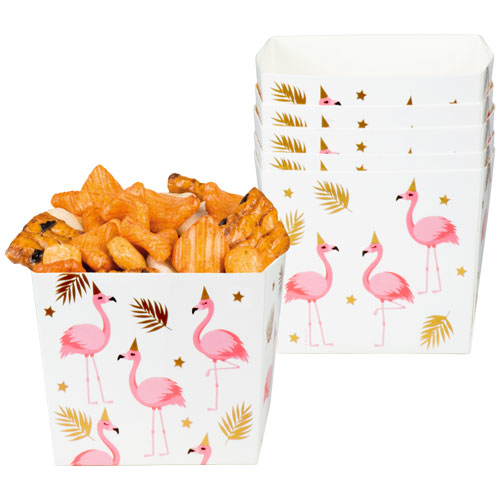 Flamingo Gold Foil Paper Bowls - Pack of 6 Product Image