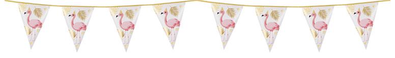 Flamingo Gold Foil Pennant Bunting 4m