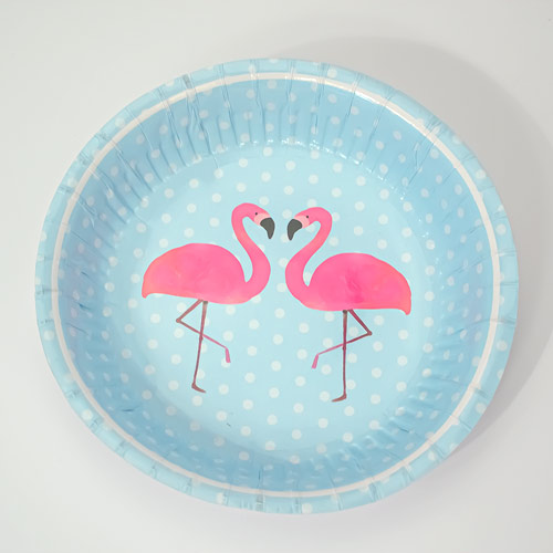 Flamingo Paper Bowls - Pack of 12 Product Image