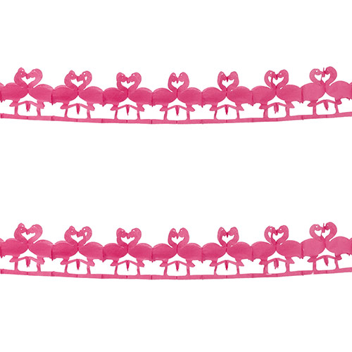 Flamingo Paper Garland Hanging Decoration 2.5m Product Image