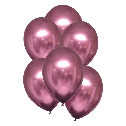 Flamingo Pink Satin Luxe Latex Balloons 28cm / 11 in - Pack of 6 Product Image