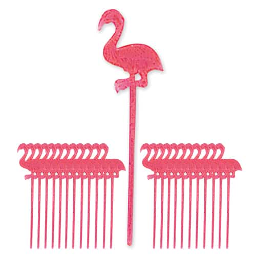 Flamingo Plastic Picks - Pack Of 24 Product Image
