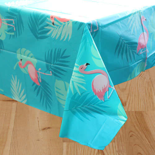 Flamingo Plastic Tablecover 180cm x 130cm