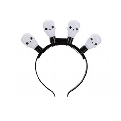 Flashing Skull Halloween Headband
