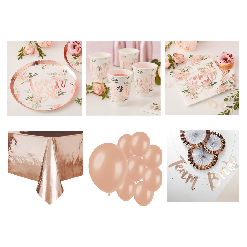 Floral Hen Party 8 Person Deluxe Party Pack