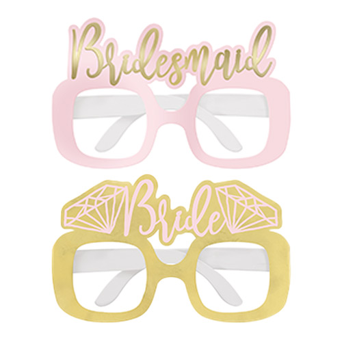 Foil Hen Party Cardboard Glasses - Pack of 4