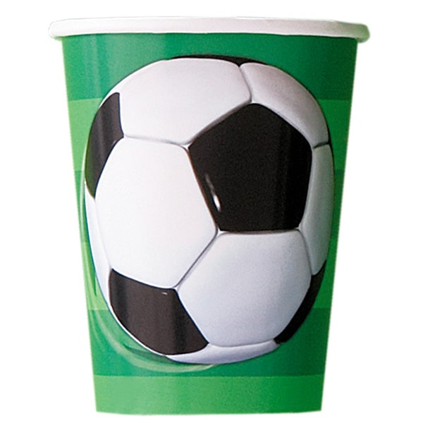 Football Paper Cups 266ml - Pack of 8