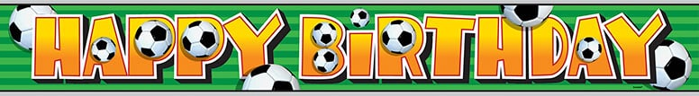 Football Foil Banner - 12 Ft / 366cm Product Image