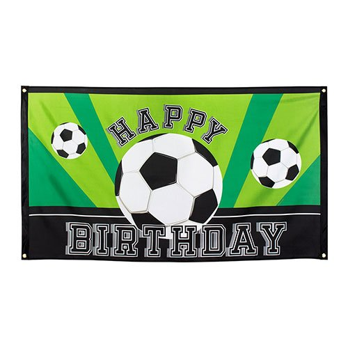 Football Happy Birthday Polyester Flag 150cm