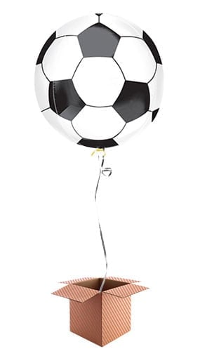 Football Orbz Foil Balloon - Inflated Balloon in a Box Product Image