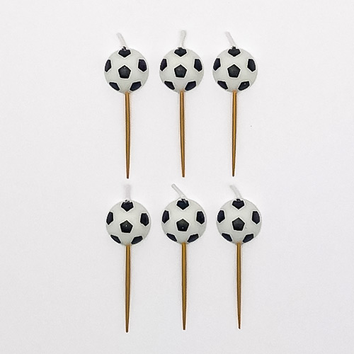 Football Pick Birthday Candles - Pack of 6 Product Image