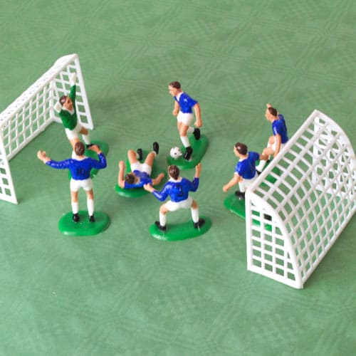 Football Players In Blue Cake Decoration Set - Pack of 9 Product Image