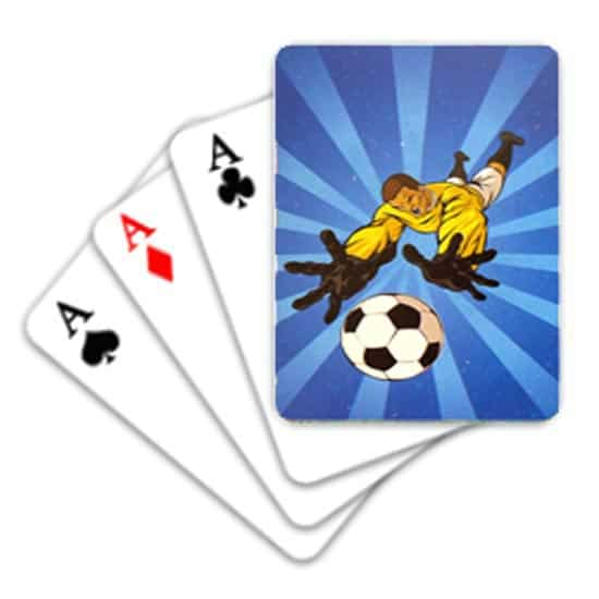 Football Mini Playing Cards - Pack of 6