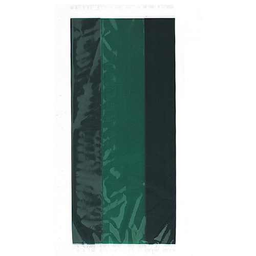 Forest Green Cello Gift Bags with Twist Ties - Pack of 30