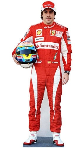 Formula One Fernando Alonso Lifesize Cardboard Cutout - 177cm