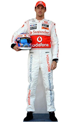 Formula One Jenson Button Lifesize Cardboard Cutout - 184cm