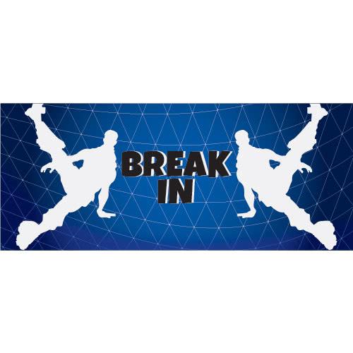 Breakin Dance Silhouette PVC Party Sign Decoration 60cm x 25cm Product Image