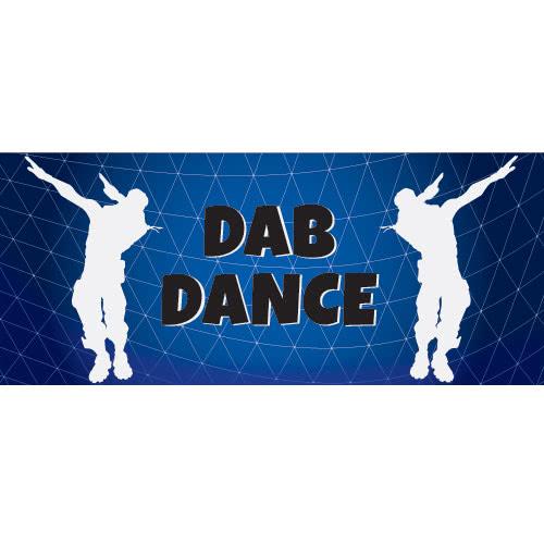 Dab Dance Silhouette PVC Party Sign Decoration 60cm x 25cm Product Image
